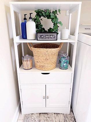 White Kitchen / Bathroom Storage Cabinet