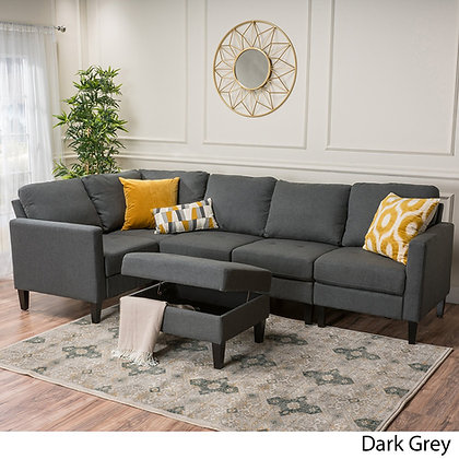 Oliver Smith - Large Light Grey Linen Cloth Modern Couch