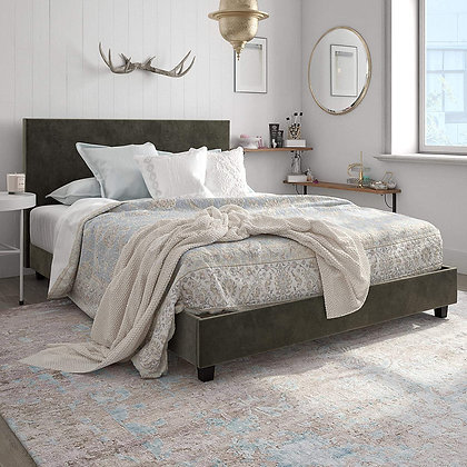 DHP Upholstered bed frame w/ Headboard