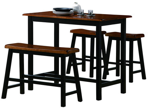 4 Piece Counter Height Dining Table Set Comfy Niche