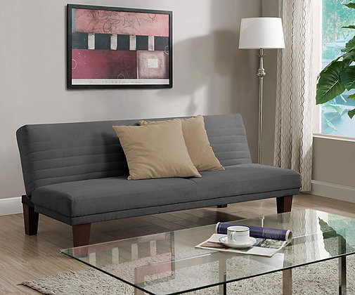 DHP Convertible Futon with Microfiber Upholstery