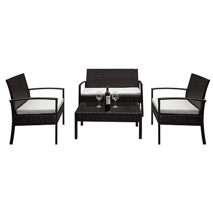 Lovinland 4 Piece Rattan Furniture Set