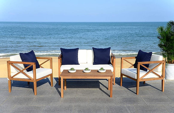 White 4 Pc Accent Pillows Outdoor Set