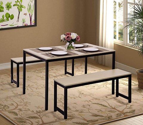 Modern Style 3 Pieces Dining Table Set