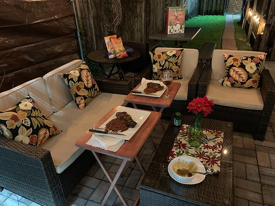 4 Pieces Outdoor Patio Furniture Set