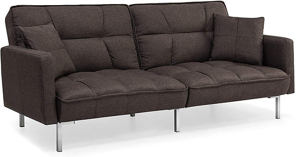 Convertible Linen Tufted Sleeper Plush Couch