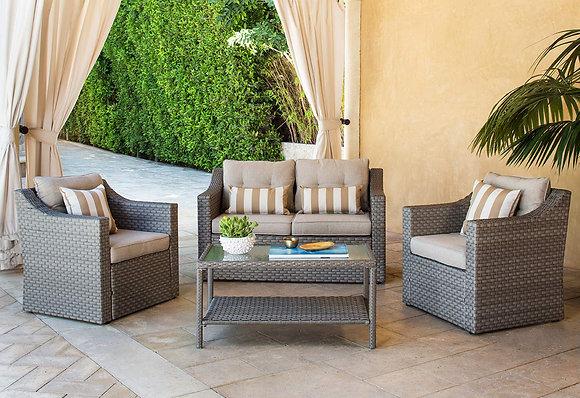 Neutral Beige Furniture Sofa Set (4 Piece)