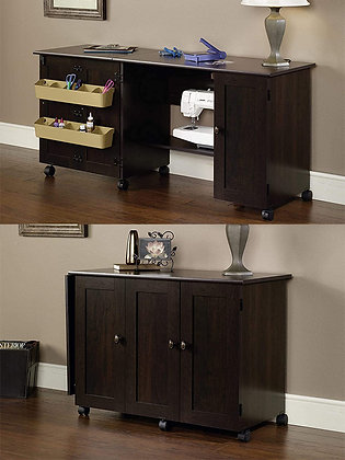 Space-Saving Foldable Storage Cabinet Desk / Table