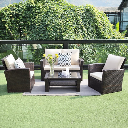 Wicker Rattan Outdoor Patio Furniture Set