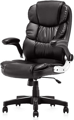 Executive PU Leather Office Chair with Padded Armrests