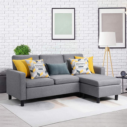 L-Shaped Convertible Sectional Sofa Couch