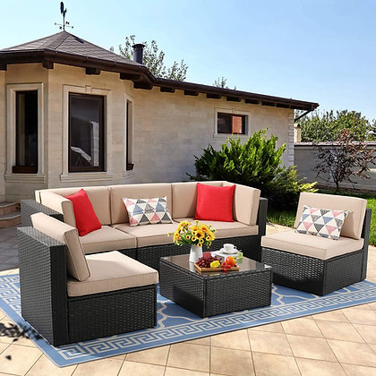 Outdoor 6 Piece Patio Furniture Set