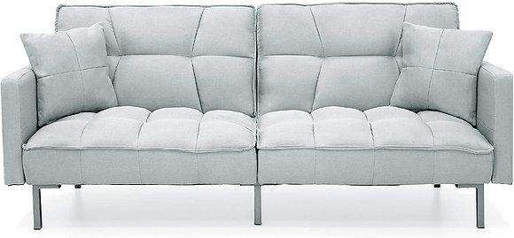 Convertible Linen Split-Back Sofa