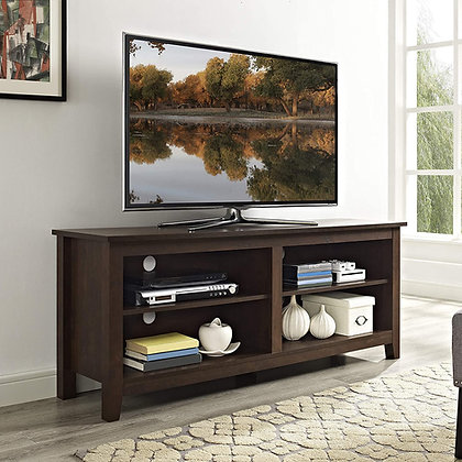 Classic 4 Cubby Wooden TV Stand