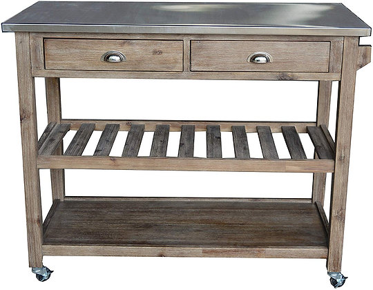 Stainless steel counter top Kitchen Cart