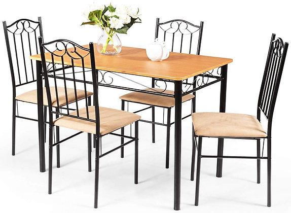 Vintage 5 Piece Dining Table Set