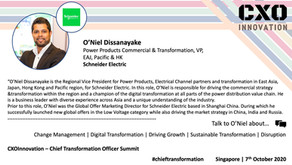 Speaker Update | O'Niel Dissanayake
