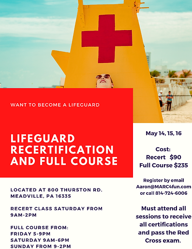 LIfeguard Recertification and Full Cours