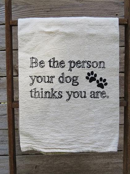 """""""Dog"""" Tea Towel"""