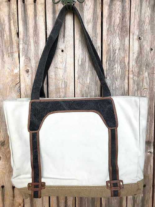 AVERY Natural Work Tote with Laptop Sleeve