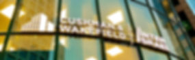 Cushman and Wakefiled Inter Israel logo on the company's building entrance