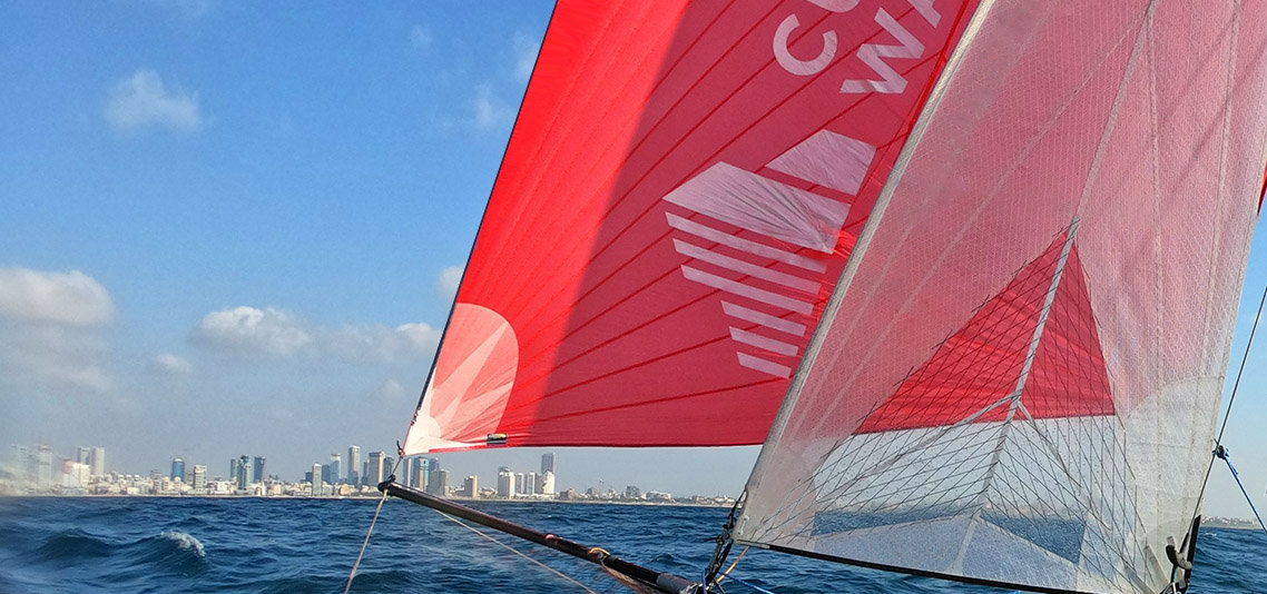 A lookout from Cushman & Wakefield Inter Israel's sailboat to Tel Aviv coast