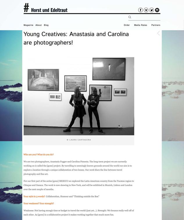 Young Creatives: Anastasia and Carolina are photographers!