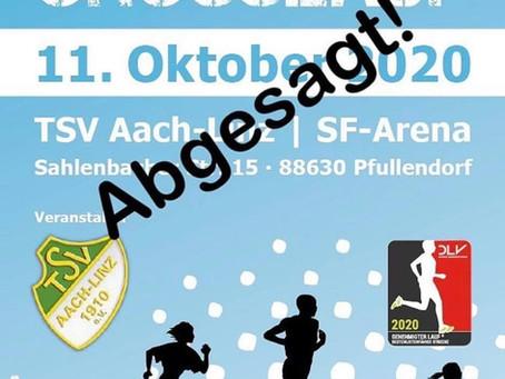 Absage Linzgau Crosslauf 2020
