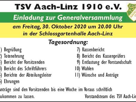 Generalversammlung des TSV Aach-Linz