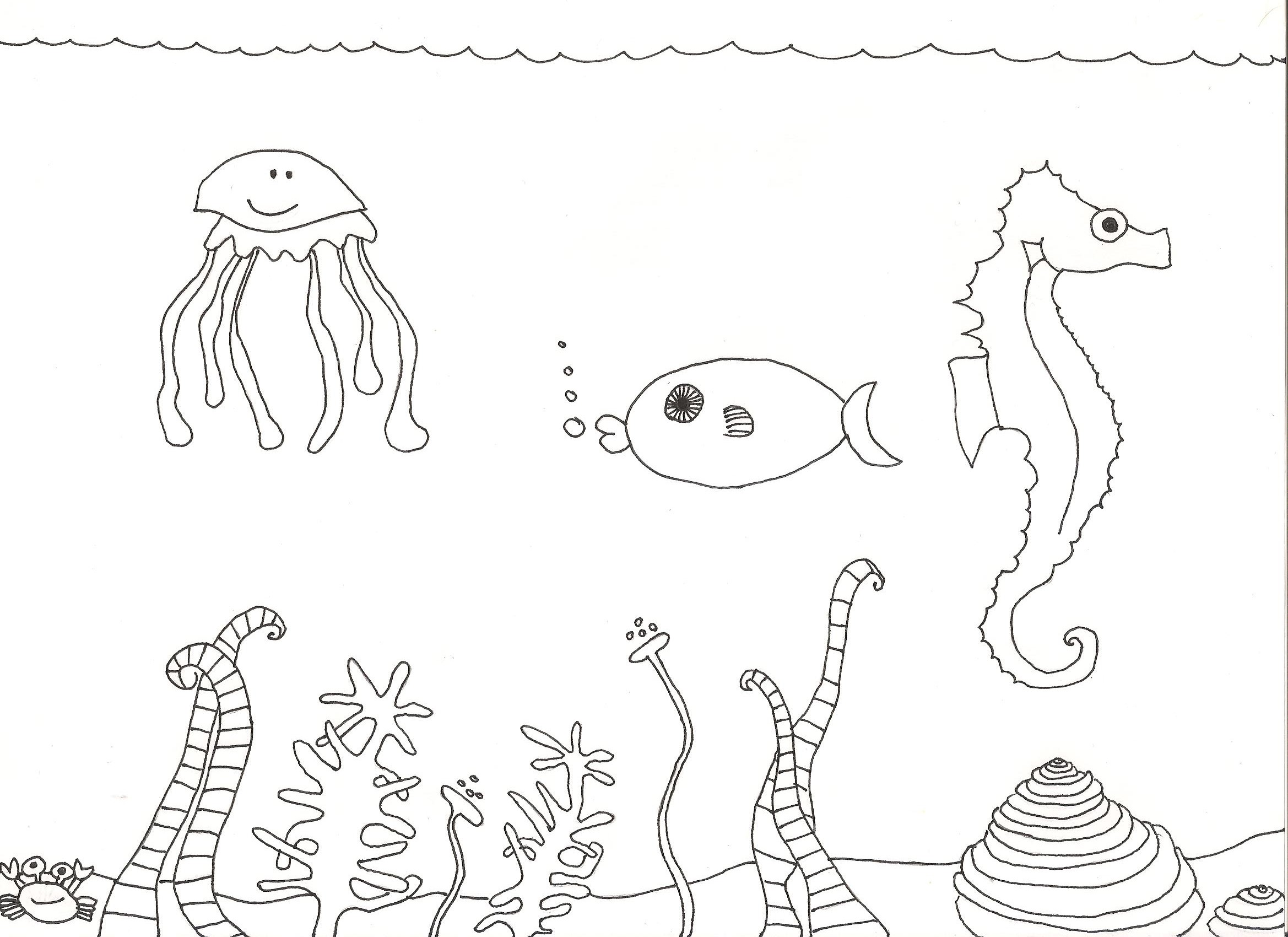 Coloriage animaux marins