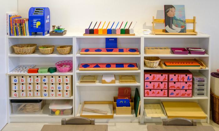 Meuble pour activités Montessori