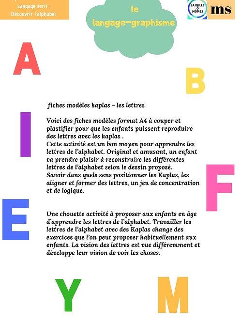 L'alphabet en kaplas