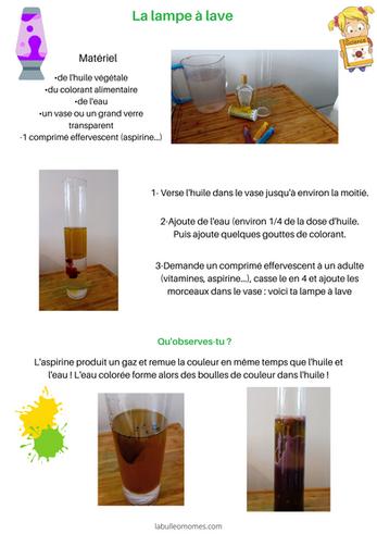 Les petits scientifiques : la lampe à lave