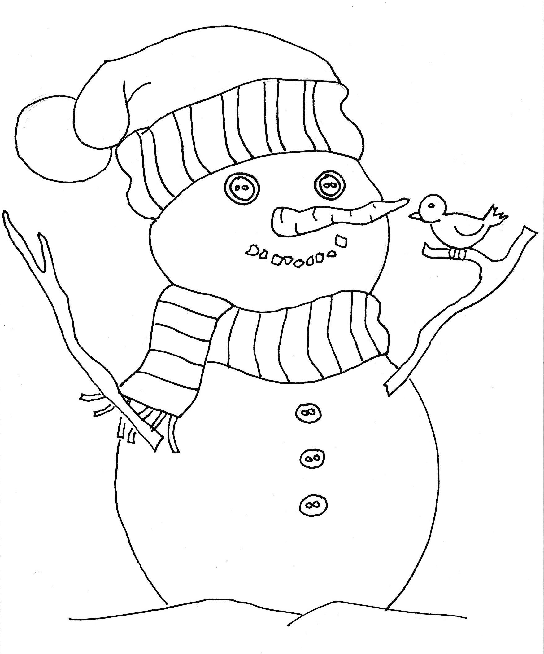 coloriage_bonhomme_de_neige
