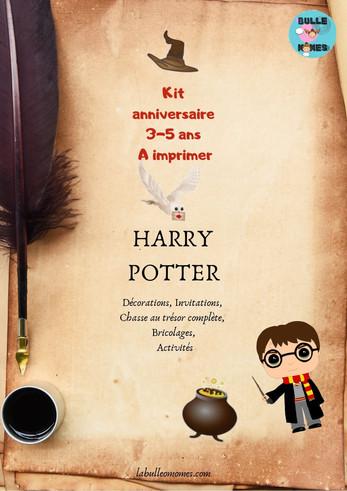 Kit anniversaire Harry Potter -Pour les 3 à 6 ans