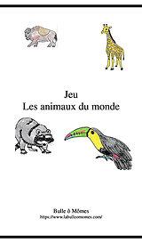 Jeu Les animaux du monde