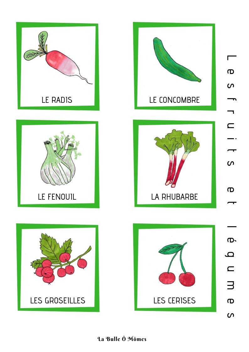 L'imagier du printemps-les fruits et légumes