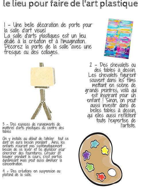 Fiche pédagogique art plastique