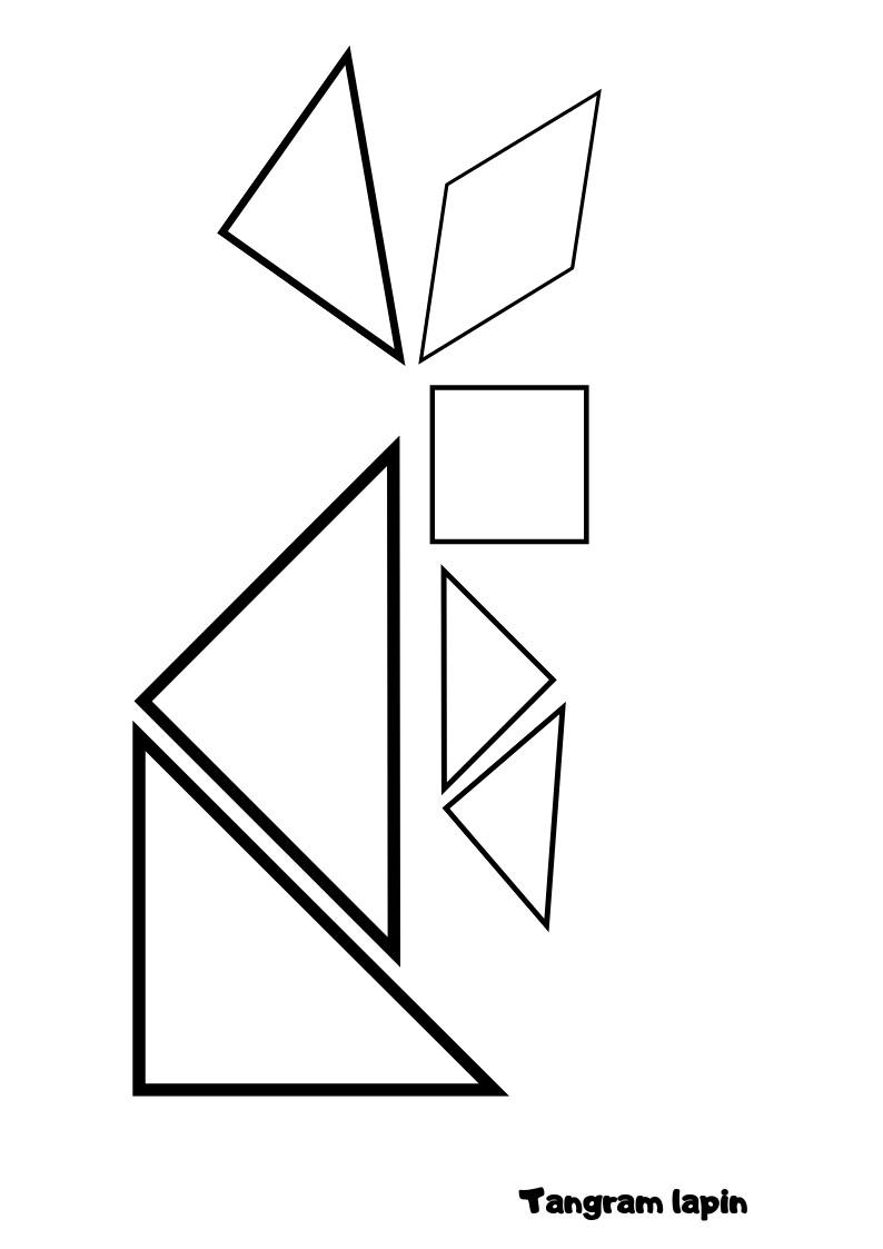 Tangram lapin- La Bulle ô Mômes