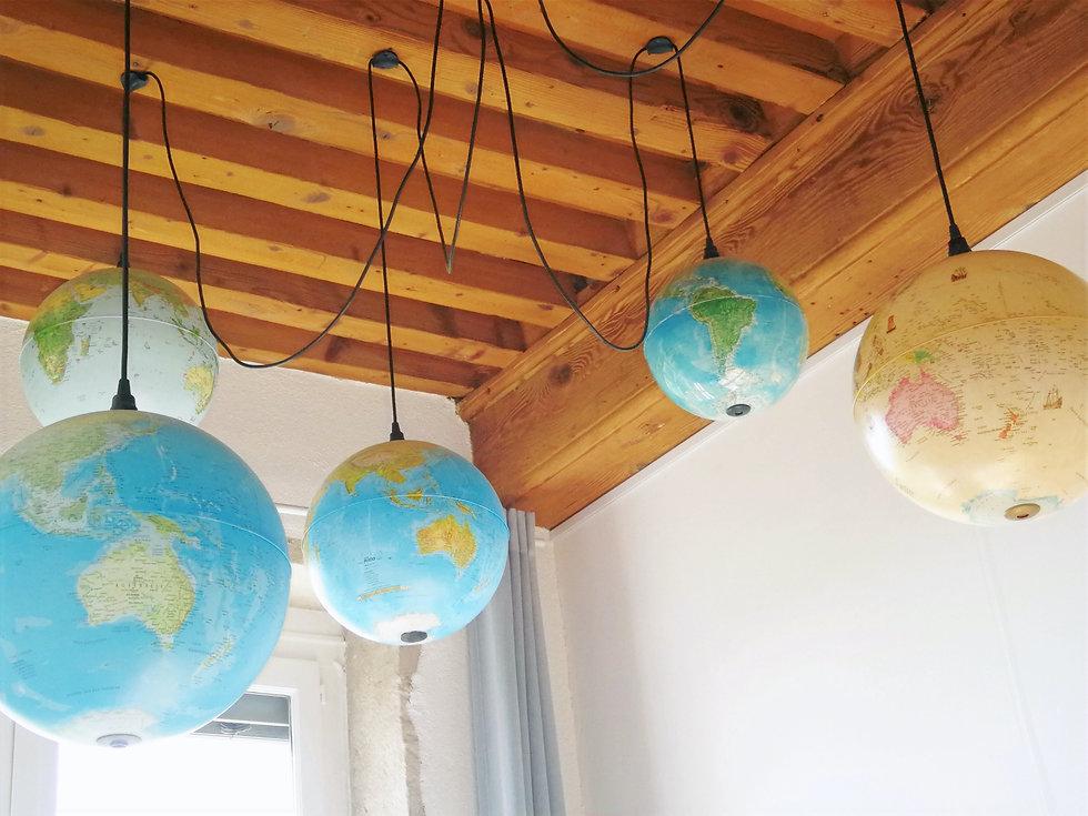 decoration globes terrestres lumieres architecture interieure lyon valentine