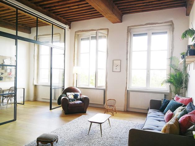 architecture interieure architecte décoratrice décoration Lyon valentine canut déco pentes