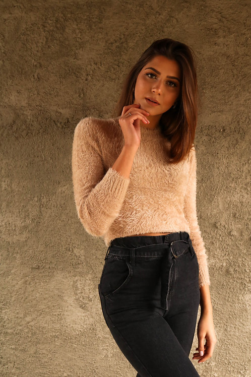 TRICOT CROPPED FELPUDO