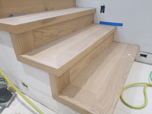wall to open stair nosings