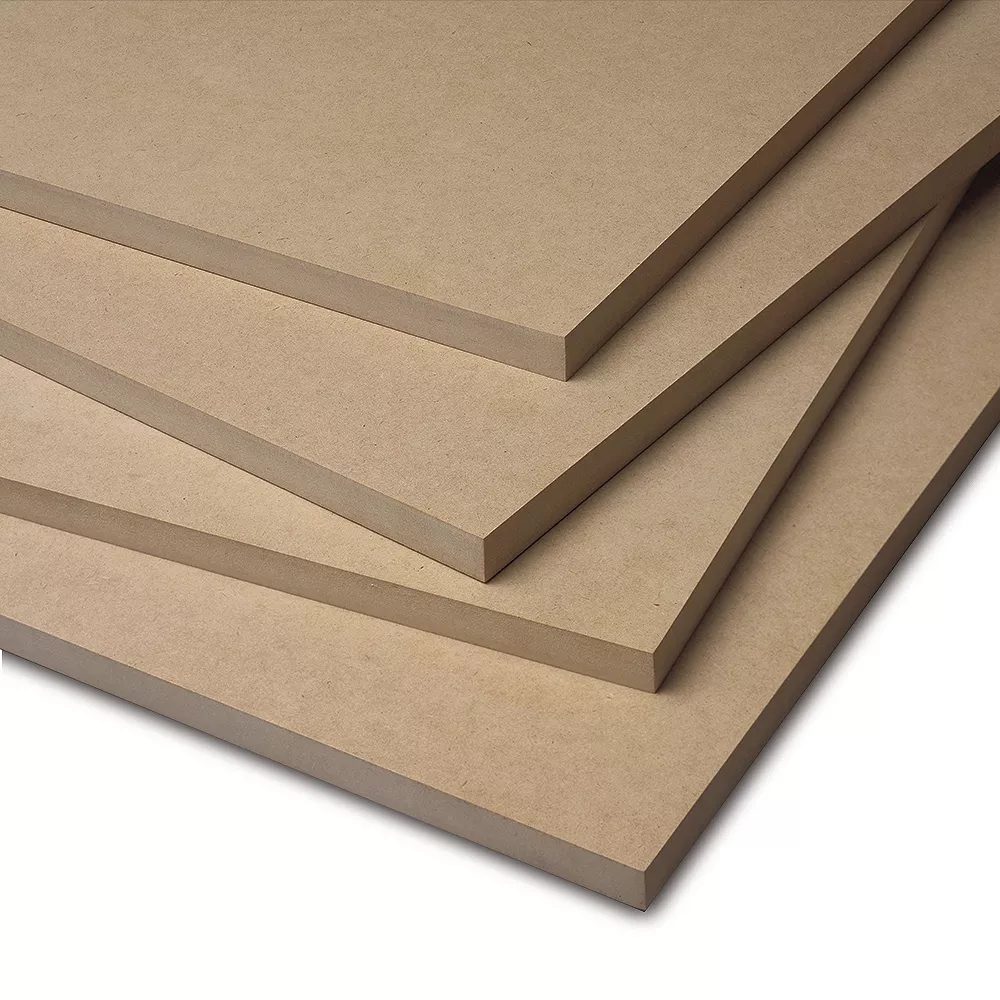 MDF boards stacked on top of each other
