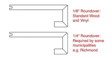 Roundover for square nosing | ShapeMeasure