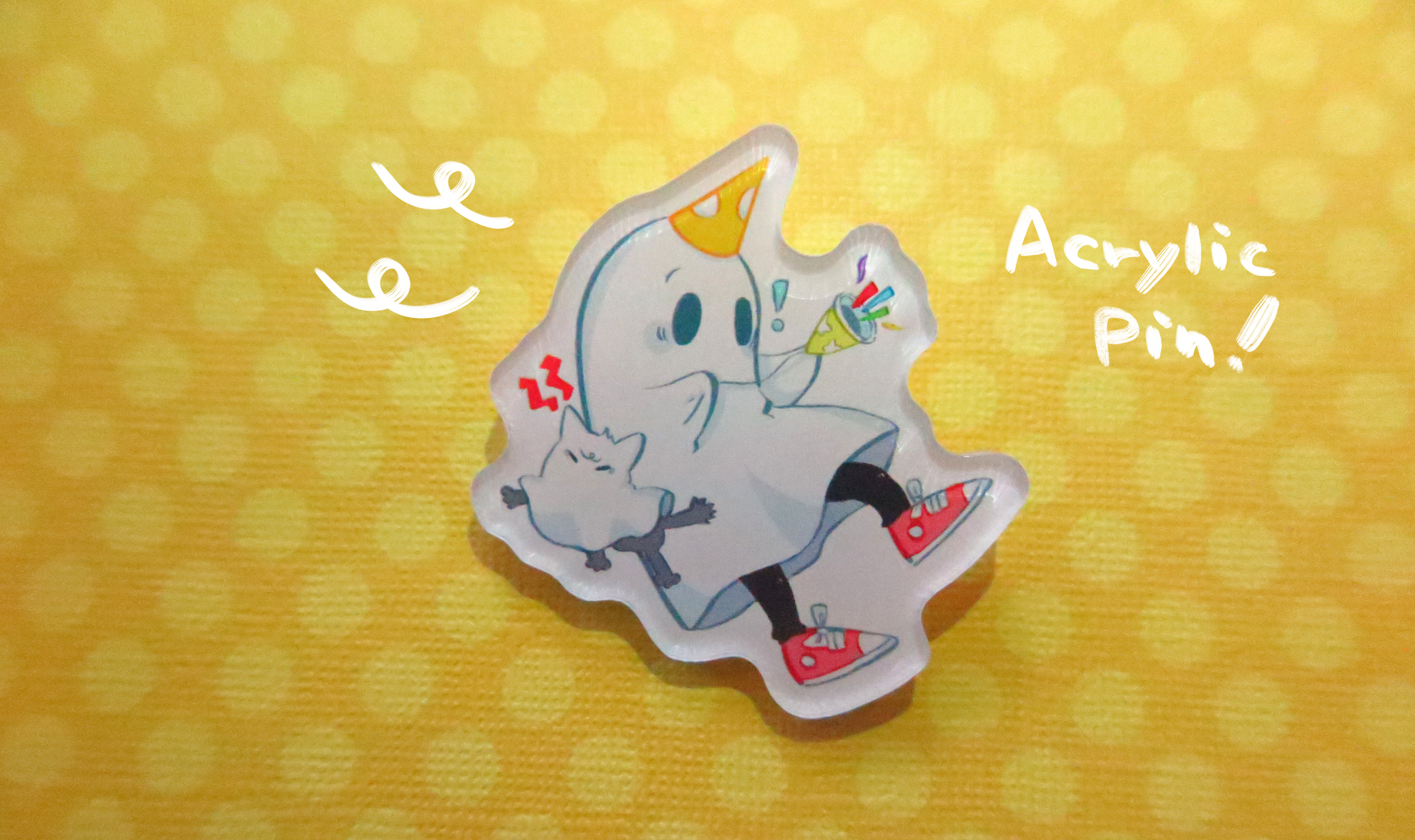 Party Ghost acrylic pin