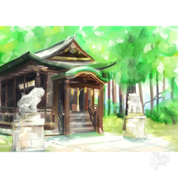 Shinto Shrine in Summer