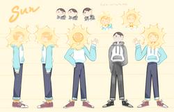 Sun Character Design