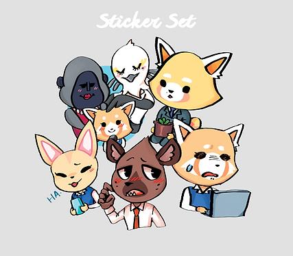 Sticker set | Aggressive Retsuko