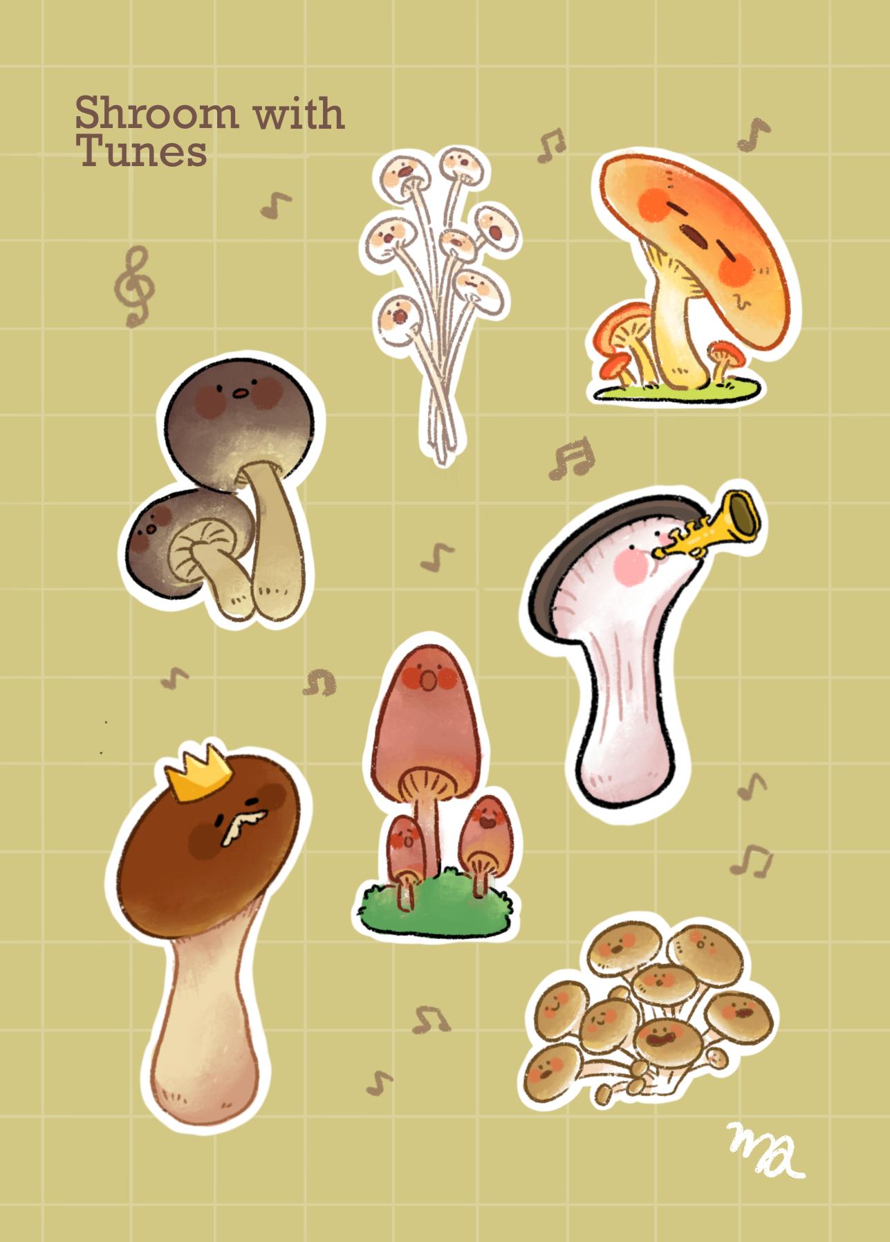 Mushroom Sticker Sheet
